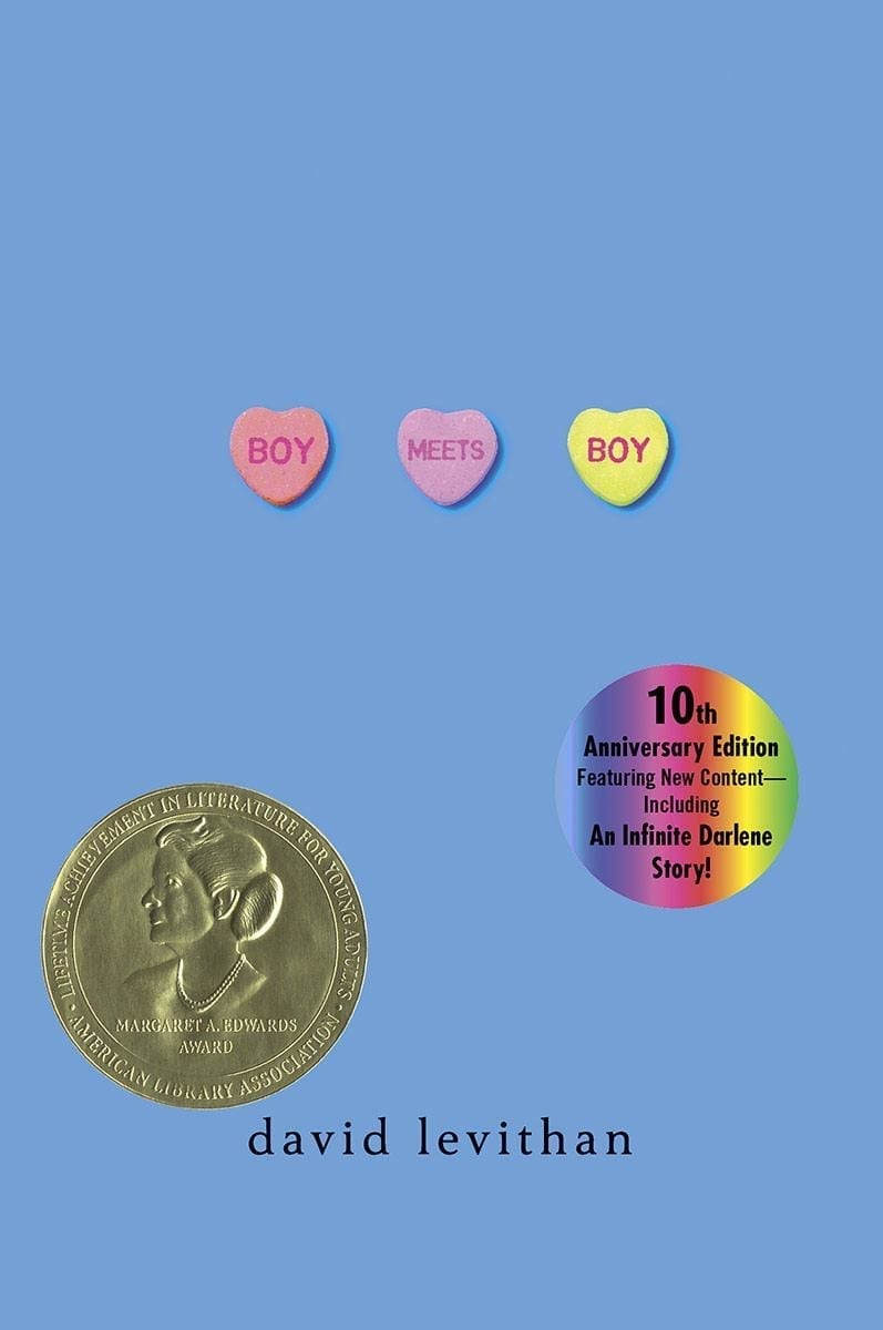 Boy Meets Boy is David Levithan\'s darling YA love story between Paul and Noah. It\'s adorable and sweet with beautiful language.