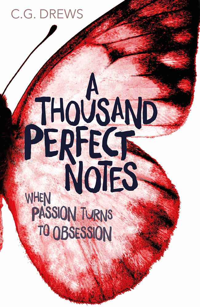 Beck\'s mom wants him to be a world-famous pianist, at any cost. A Thousand Perfect Notes by CG Drews is a heart-breaking but inspiring story of family, friendship, ambitions, and mental illness.  #AThousandPerfectNotes #CGDrews #PaperFury #YABooks #BookReview #MassConsternation