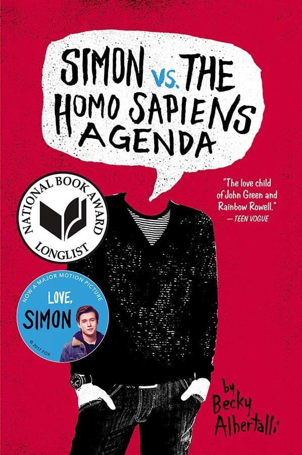 I finally read Simon vs The Homo Sapiens Agenda by Becky Albertalli. It\'s an adorably cute story of love, trust, friendship, and self.  #YABooks #LGBTQ #LoveSimon #Bookreview #BookBlogger #Books #MassConsternation