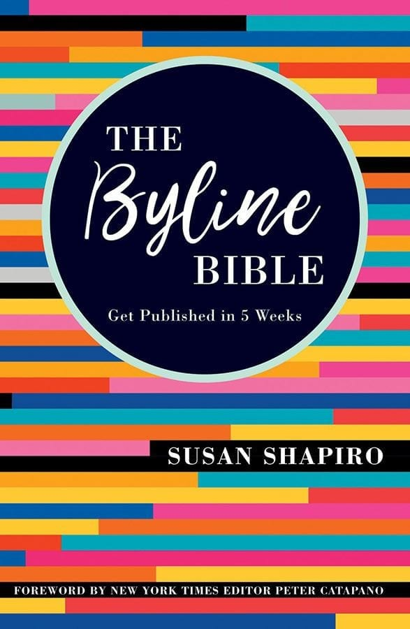 Susan Shapiro shares of knowledge of writing personal essays and being paid and published with her new book The Byline Bible.  #Books #WritingBooks #Writers #BookReview #BookBlogger #MassConsternation