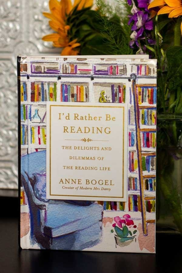 Anne Bogel\'s I\'d Rather Be Reading is a gift book of essays from her, a devoted reader, to other devoted readers everywhere.  #IdRatherBeReading #ModernMrsDarcy #GiftBooks #Books #Reading #BookReview #MassConsternation