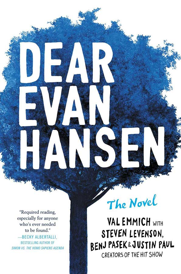 Broadway's Dear Evan Hansen has been converted to a beautifully written novel by Val Emmich. It's deep, and dark: everything a musical isn't.  #YABooks #Musicals #Broadway ##Books #Reading #BookReview #BookBlogger #MassConsternation #DearEvanHansen