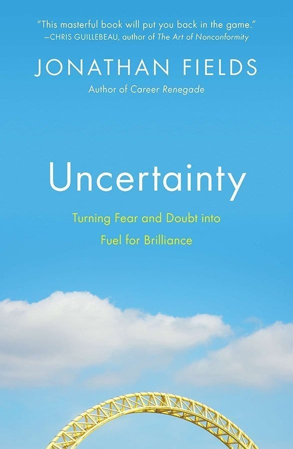 Uncertainty by Jonathan Fields looks at why uncertainty is scary, how it needs to be conquered to launch a business, and how to look after yourself during uncertainty.  #SelfHelp #Books #MakingABetterMe #Entrepreneurship #Uncertainty #Mindfulness #JoanthanFields #MassConsternation