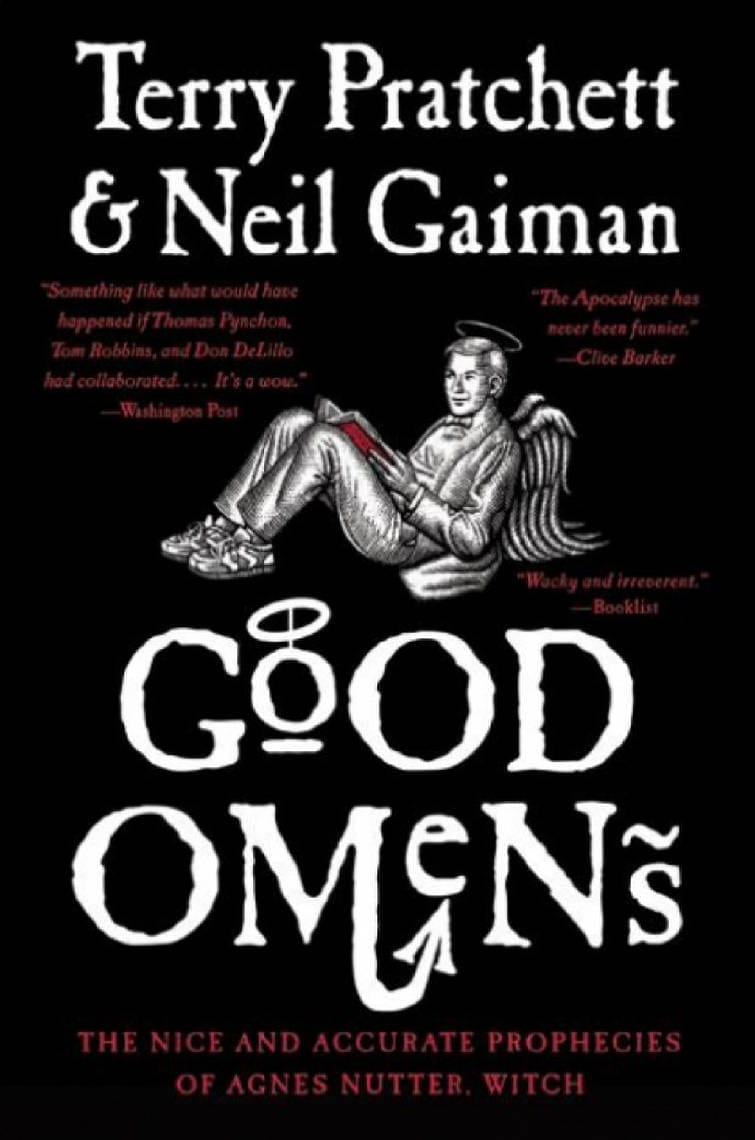 Neil Gaiman and Terry Pratchett\'s Good Omens is an amusing end-of-the world telling of an 11-year-old Antichrist, whom they lost.  #GoodOmens #NeilGaiman #TerryPratchett #Fantasy #Books #BookReviews #BooktoMovie #MassConsternation
